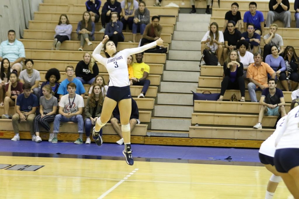 Volleyball Falls To St. John's In Midweek Clash