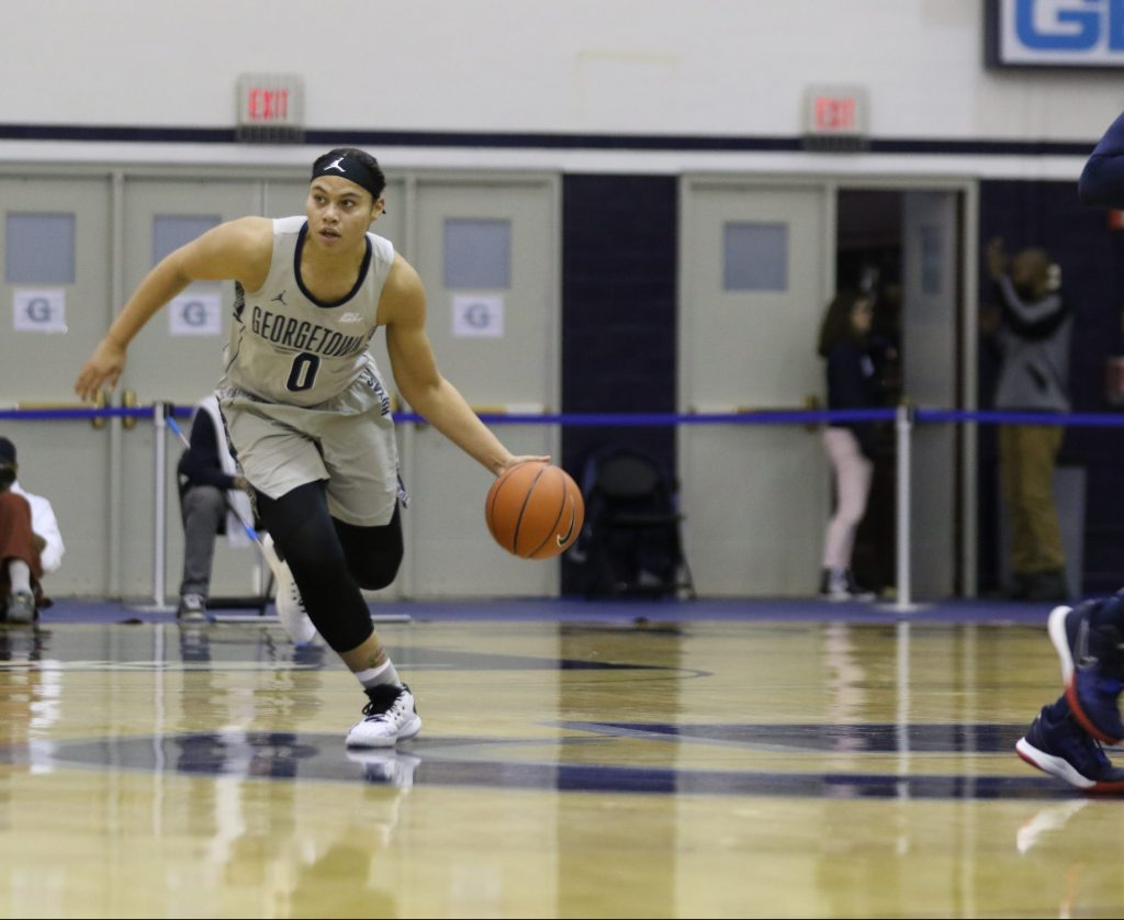 Women's Basketball Falls to George Washington in a Back-and-Forth Battle