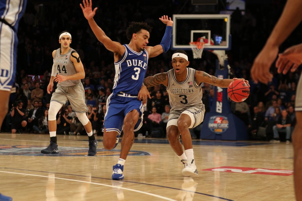 Fouls, Turnovers Spoil Promising Showing from Men's Basketball Against #1 Duke