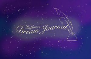 Halftime's Dream Journal, written in a starry sky