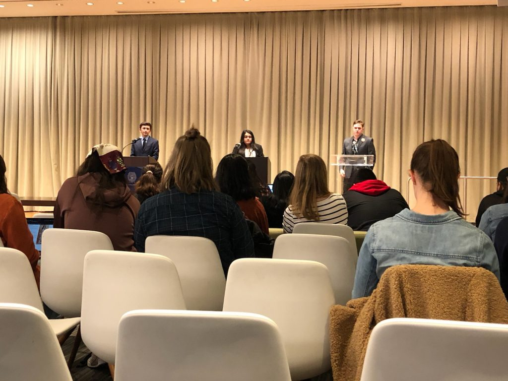 GUSA presidential candidates debate sustainability, mental health, diversity