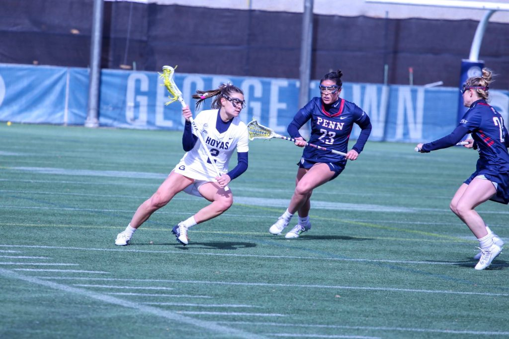 No. 19 Women's Lacrosse Struggles Against No. 12 Pennsylvania