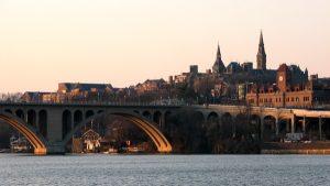 Key Bridge, Georgetown University, Car Barn