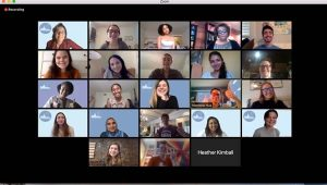 The Title IX class meets over Zoom