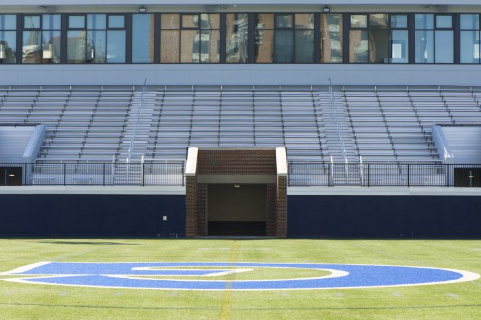 The locker room leading to Cooper Field