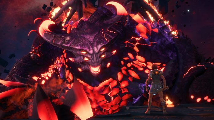 A screenshot of Typhon from Immortals Fenyx Rising